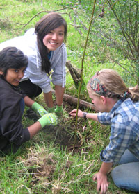 Volunteers in Ecuador